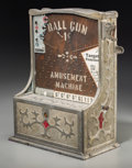 Decorative Arts, Continental:Other , A Buckley Countertop Ball Gum Amusement Machine, circa 1940.15-3/4 h x 11-3/4 w x 6-1/2 d inches (40.0 x 29.8 x...
