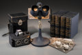 Decorative Arts, Continental, An Altiscop Stereoscope Camera, Extensive Keystone StereoscopeLibrary, and Viewer, c. 1930. 12 h x 7 w x 7 d inches (30.5 x...