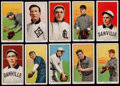 Baseball Cards:Lots, 1909-11 T206 Southern Leaguers (10) - All Old Mill Backs. ...