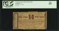 Obsoletes By State:Louisiana, Franklin, LA- Treasurer of the Parish of St. Mary 50¢ Sep. 14, 1862. ...