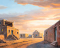 Fine Art - Painting, American:Contemporary   (1950 to present)  , Bill Hughes (American, 1932-1992). Pueblo Sunset, 1979. Oilon canvas. 24 x 29-1/2 inches (61.0 x 74.9 cm). Signed and d...