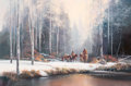 Fine Art - Painting, American, Charles H. Pabst (American, b. 1950). The Winter Trek. Oilon canvas. 24 x 36 inches (61.0 x 91.4 cm). Signed lower righ...