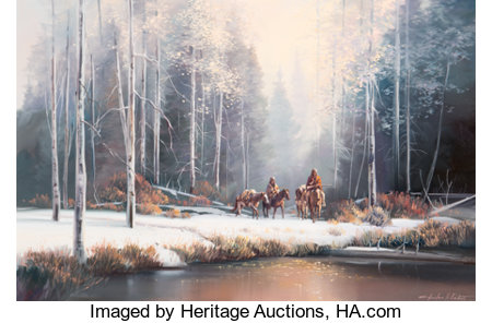 Charles H. Pabst (American, b. 1950)The Winter TrekOil on canvas24 x 36 inches (61.0 x 91.4 cm)Signed lower righ...