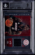 Basketball Cards:Singles (1980-Now), 2013-14 Totally Certified Materials Red LeBron James Jersey Card #51 BGS Mint 9 - Serial #'d 103/149....