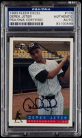 Autographs:Sports Cards, Signed 1993 Fleer Excel Derek Jeter #106 PSA/DNA Authentic....