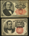 Fractional Currency:Fifth Issue, Fr. 1266 10¢ Fifth Issue;. Fr. 1308 25¢ Fifth Issue, pinhole at lower right.. Very Fine or Better.. ... (Total: 2 notes)