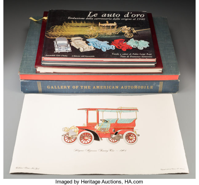 Five Automobile Coffee Table Books 23 1 2 Inches High X 15 Lot