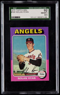 Baseball Cards:Singles (1970-Now), 1975 Topps Mini Nolan Ryan #500 SGC 92 NM/MT+ 8.5....