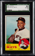 Baseball Cards:Singles (1960-1969), 1963 Topps Willie Mays #300 SGC 80 EX/NM 6....