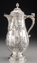 Silver Holloware, Continental:Holloware, A Hanau German Silver Coffee Pot, late 19th-early 20th century.Marks: (pseudo poincons). 11-1/4 inches high (28.6 cm). 24.1...