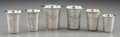 Silver Holloware, Continental:Holloware, Six Russian Silver Cups. Marks: (various). 2-1/4 inches high (5.7 cm) (tallest). 5.38 troy ounces. ... (Total: 6 Items)
