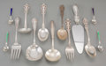 Silver Flatware, American, A Thirty-Nine Piece Group of Miscellaneous Sterling SilverFlatwares. Marks: (various). 10 inches long (25.4 cm) (longest,p... (Total: 39 Items)