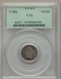Early Half Dimes, 1795 H10C V-5, LM-8, R.3, Fine 15 PCGS....