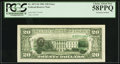 Error Notes:Third Printing on Reverse, Fr. 2073-B $20 1981 Federal Reserve Note. PCGS Choice About New 58PPQ.. ...