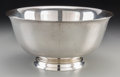 Silver Holloware, American:Bowls, A Large Reed & Barton Silver Revere Bowl, Taunton,Massachusetts. Marks: REED & BARTON, STERLING, X1455, PAULREVERE REPRO...