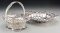 Silver Holloware, American:Bowls, A Howard & Co. Sterling Silver Basket with Whiting Mfg. Co.Silver Bread Bowl New York, late 19th century. Marks: (griffin-W...(Total: 2 Items)