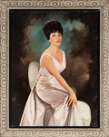 Music Memorabilia:Original Art, A Connie Francis Oil Portrait by Prospect, 1964....