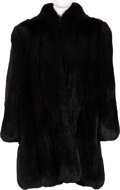 Music Memorabilia:Costumes, A Connie Francis Black Fur Coat, 1970s....