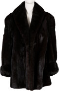Music Memorabilia:Costumes, A Connie Francis Dark Brown Fur Coat, 1970s....
