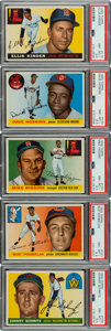 Baseball Cards:Lots, 1955 Topps Baseball PSA NM-MT+ 8.5 Collection (5)....