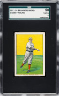 Baseball Cards:Singles (Pre-1930), 1911-14 D304 Brunners Bread Cy Young SGC 50 VG/EX 4....