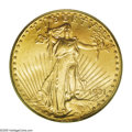 Saint-Gaudens Double Eagles: , 1931-D $20 MS65 PCGS. The rarity of this D-mint issue should bereadily evident to all collectors since Akers referred to a...