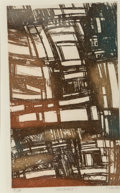 Fine Art - Work on Paper:Print, John M. Chious (American, 20th Century). Illusions andEmergence (two works). Intaglio etching. 17 x 10-1/4 inches(...