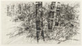 Fine Art - Work on Paper:Print, Peter Elloian (b. 1936-). City. Drypoint. 17-3/4 x 31-1/2inches (45.1 x 80.0 cm) (image). Ed. 5/20. Signed and numbered...