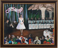 """Music Memorabilia:Original Art, A Connie Francis-Owned Acrylic Painting by Yaacov Heller Titled """"Opening Night,"""" Circa 1990s...."""