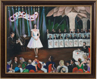 "A Connie Francis-Owned Acrylic Painting by Yaacov Heller Titled ""Opening Night,"" Circa 1990s"