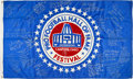 Football Collectibles:Others, 1990's Pro Football Hall of Famers Multi-Signed, Inscribed Flag Flown at Canton....