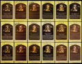 Autographs:Post Cards, Baseball Greats Hall of Fame Plaque Postcards Lot of 78....