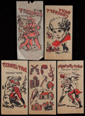 Non-Sport Cards:Singles (Pre-1950), 1950's Davy Crockett Iron-On T-Shirt Transfers Group (5). ...