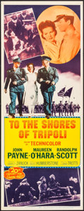 "Movie Posters:War, To the Shores of Tripoli (20th Century Fox, R-1952). Insert (14"" X 36""). War.. ..."