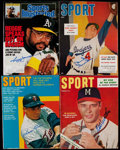 Autographs:Others, Baseball Greats Signed Vintage Magazine Quartet (4)....