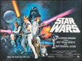 """Movie Posters:Science Fiction, Star Wars (20th Century Fox, 1977). British Quad (30"""" X 40"""") Academy Awards Style C. Science Fiction.. ..."""