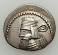 Ancients:Oriental, Ancients: PARTHIAN KINGDOM. Vologases I (ca. AD 51-78). AR drachm (3.60 gm).About XF....