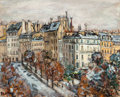Fine Art - Painting, European:Modern  (1900 1949)  , Arbit Blatas (American, 1909-1999). Scène de Paris. Oil oncanvas. 25-3/4 x 31-3/4 inches (65.4 x 80.6 cm). Signed lower...