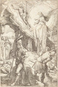 Fine Art - Work on Paper:Print, Hendrick Goltzius (Dutch, 1558-1617). The Passion of theChrist (eleven of twelve), circa 1596-1598. Copperengravin...