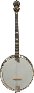 Other, A Bacon & Day Silver Bell Banjo and Case, circa 1930. Marks to banjo: B&D, Silver Bell. 33 inches high x 13 ...