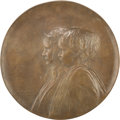 Bronze:American, N. V. Walker (American, 20th Century). Mary Jane and NancyEllis, 1927. Bronze. 21-1/2 inches diameter. Inscribed: N....