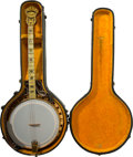 Other, An Epiphone Concert Recording Gold-Plated Banjo and Case, circa 1935. Marks to banjo: Ephiphone CONCERT Recording. 34-1/...
