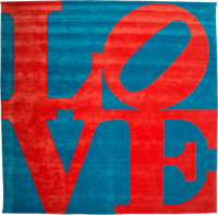 Robert Indiana (American, b. 1928) Chosen Love, circa 1995 Skein dyed, hand carved and hand tufted a