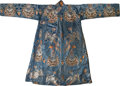 Asian:Japanese, A Chinese Embroidered Silk Robe with Phoenix Motif. 59 inches highx 80 inches wide (149.9 x 203.2 cm) (flat, arms outstretc...