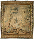 Textiles, A Flemish Tapestry with Landscape Scenery, late 18th-early 19th century. 95 inches high x 84 inches wide (241.3 x 213.4 cm)...