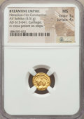 Ancients:Byzantine, Ancients: Heraclius (AD 610-641) & Heraclius Constantine (AD613-641). AV solidus (4.51 gm). NGC MS 3/5 - 4/5....
