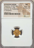 Ancients:Byzantine, Ancients: Theophilus (AD 829-842). AV semissis (1.75 gm). NGC MS5/5 - 4/5....