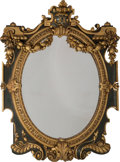 Furniture : Continental, A Large Baroque-Style Painted and Partial Gilt Mirror. 60 incheshigh x 46-1/2 inches wide (152.4 x 118.1 cm). ...