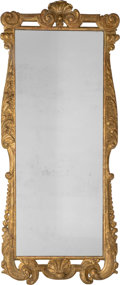Decorative Arts, Continental:Other , A Large Swedish Giltwood Mirror. 62 inches high x 26-1/4 incheswide (157.5 x 66.7 cm). ...
