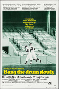 """Bang the Drum Slowly & Other Lot (Paramount, 1973). One Sheets (2) (27"""" X 41""""). Sports. ... (Total: 2..."""